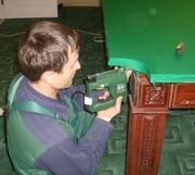 Услуга: Ремонт  бильярдного стола и замена сукна